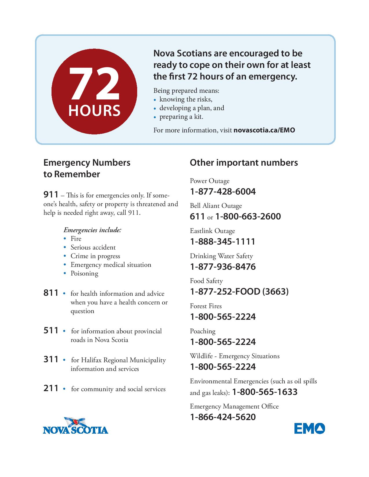 Emergency numbers to remember July 2014