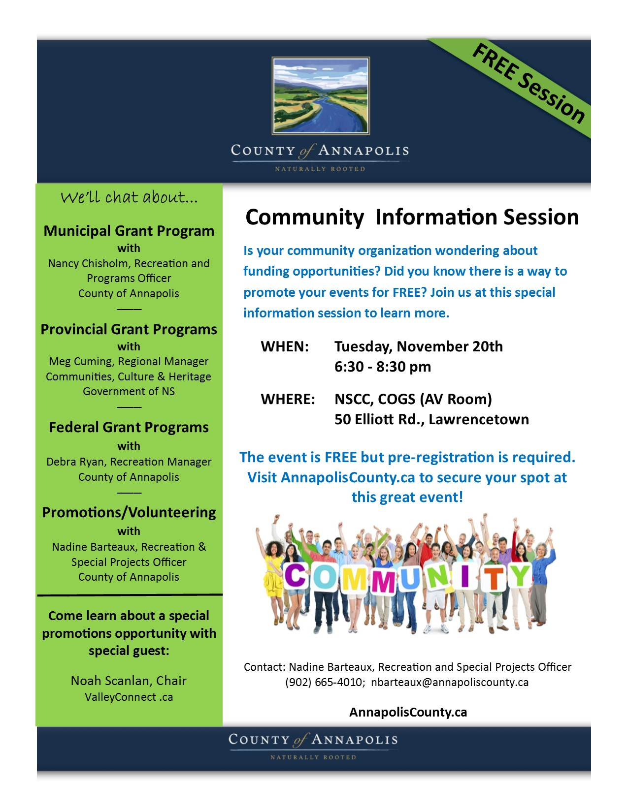 Community Information Session Nov 20 18