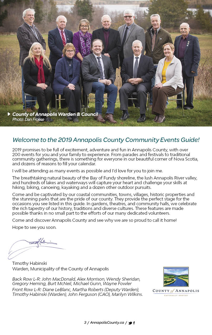Municipality of the County of Annapolis - 2019 Community Events Guide
