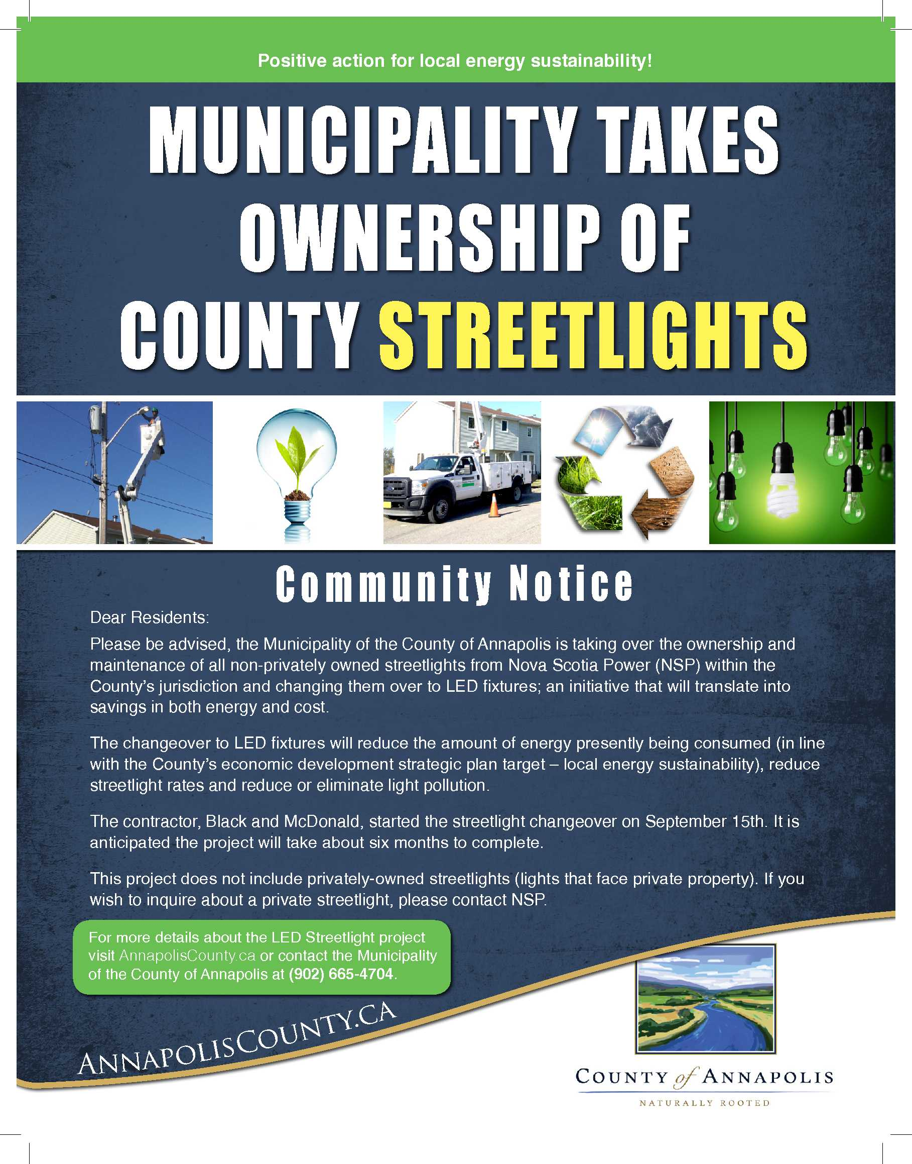 Street Light Poster PrintReady