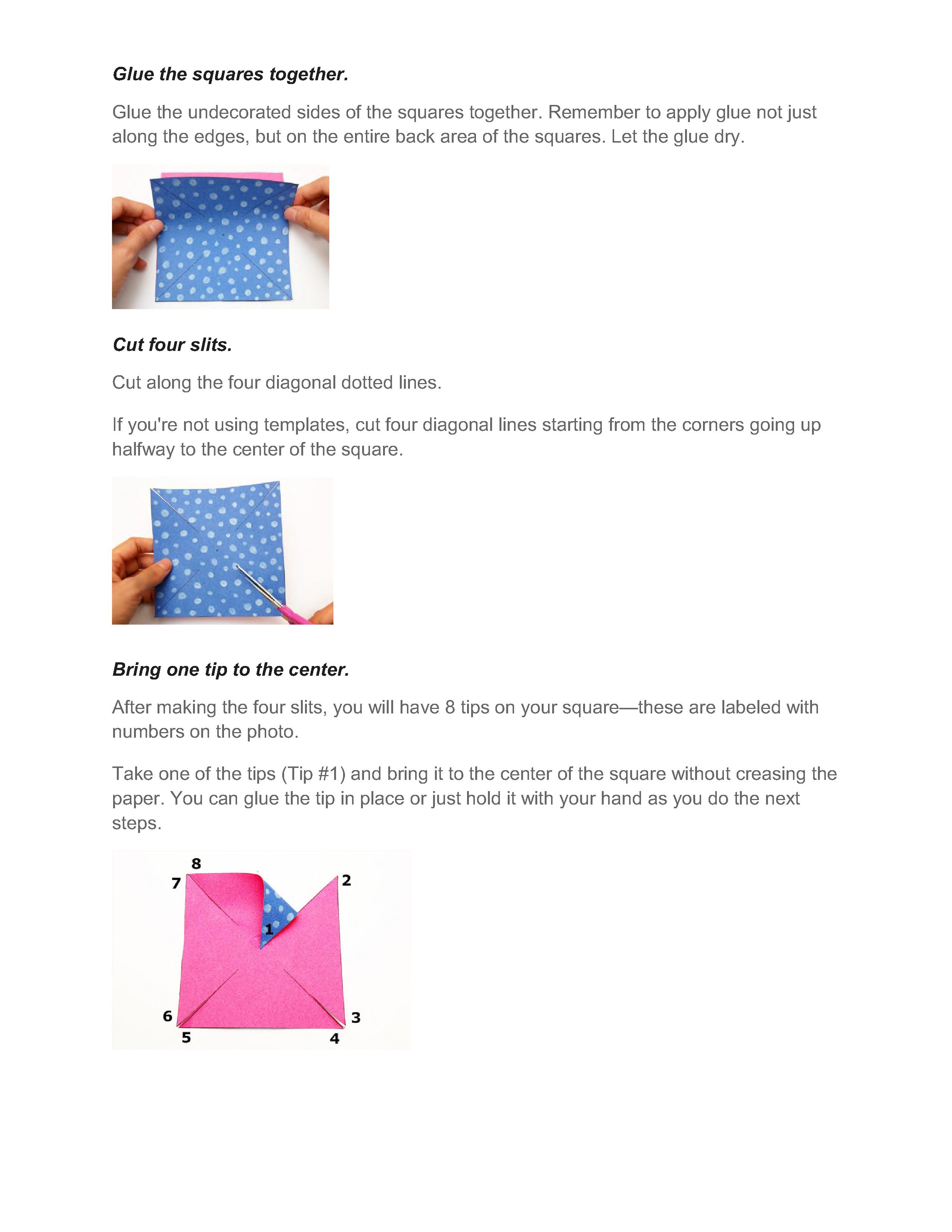 Pinwheel instructions 2