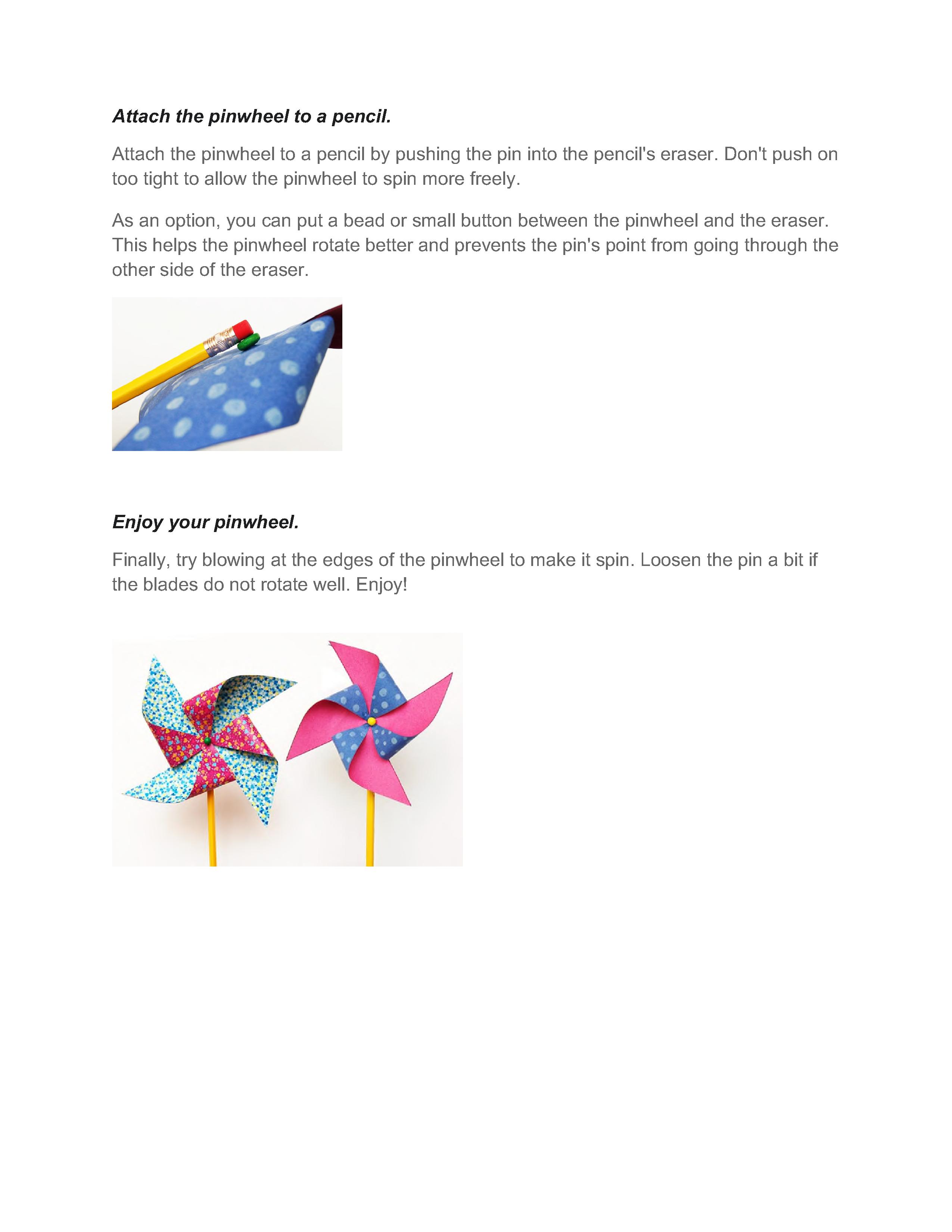 Pinwheel instructions 4