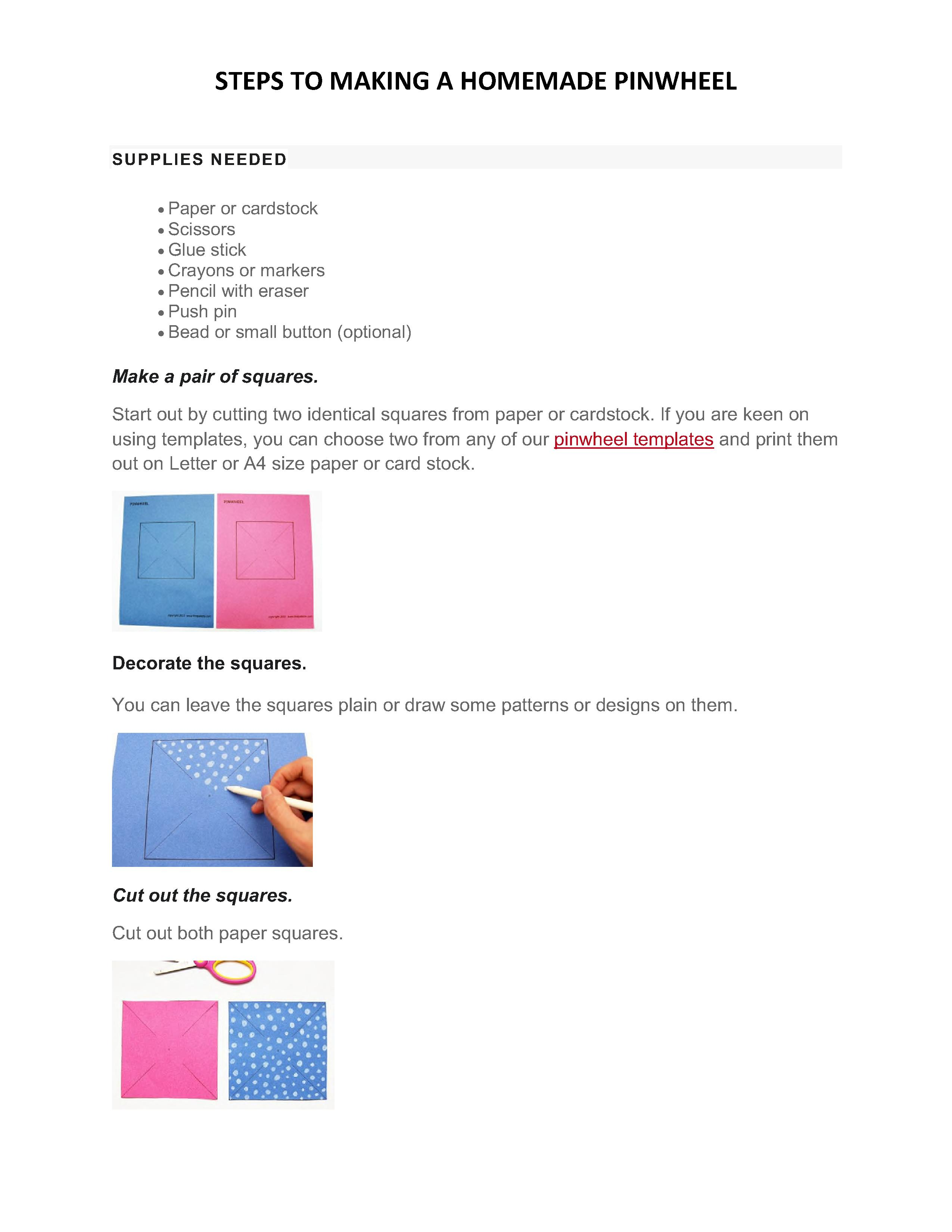 Pinwheel instructions 1