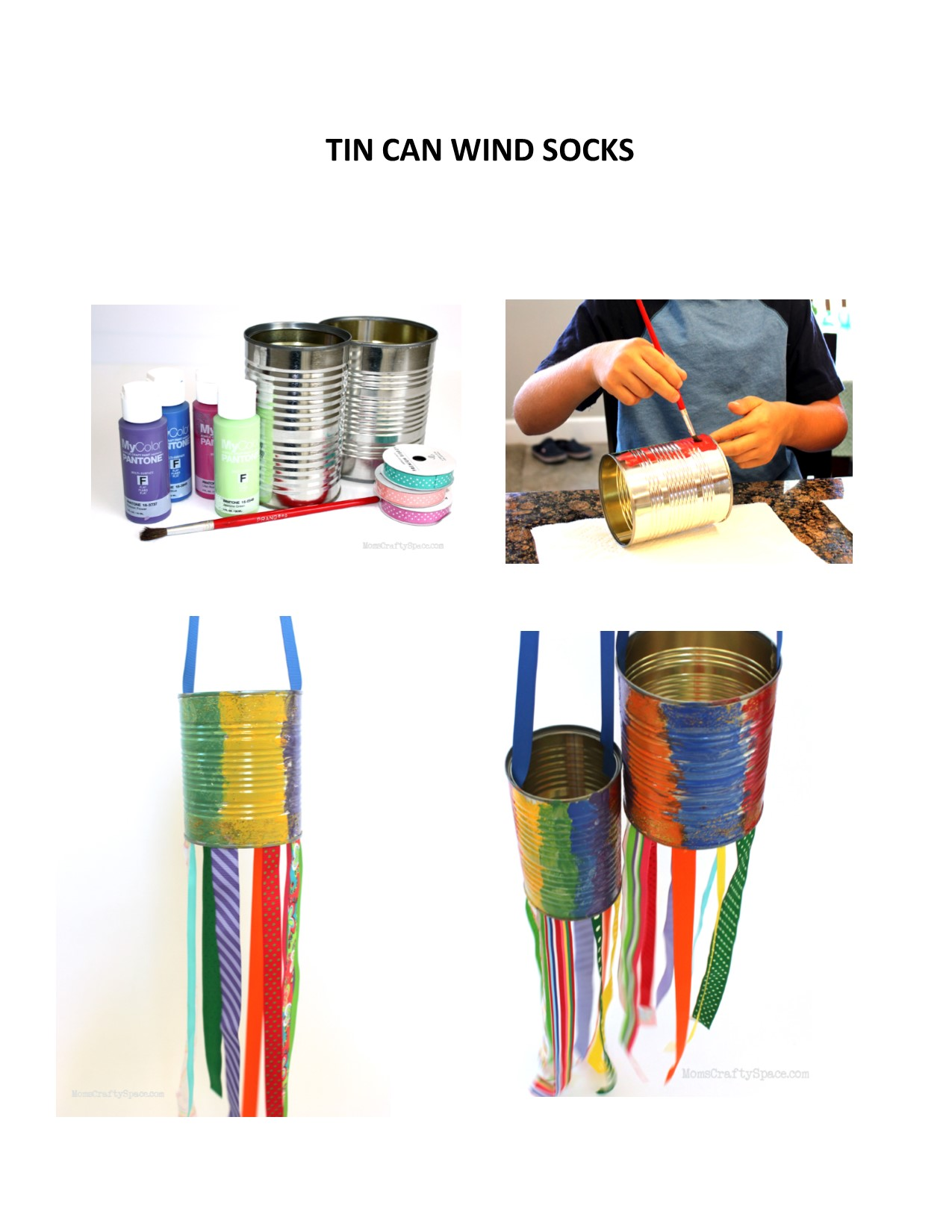 Tin Can Wind sock