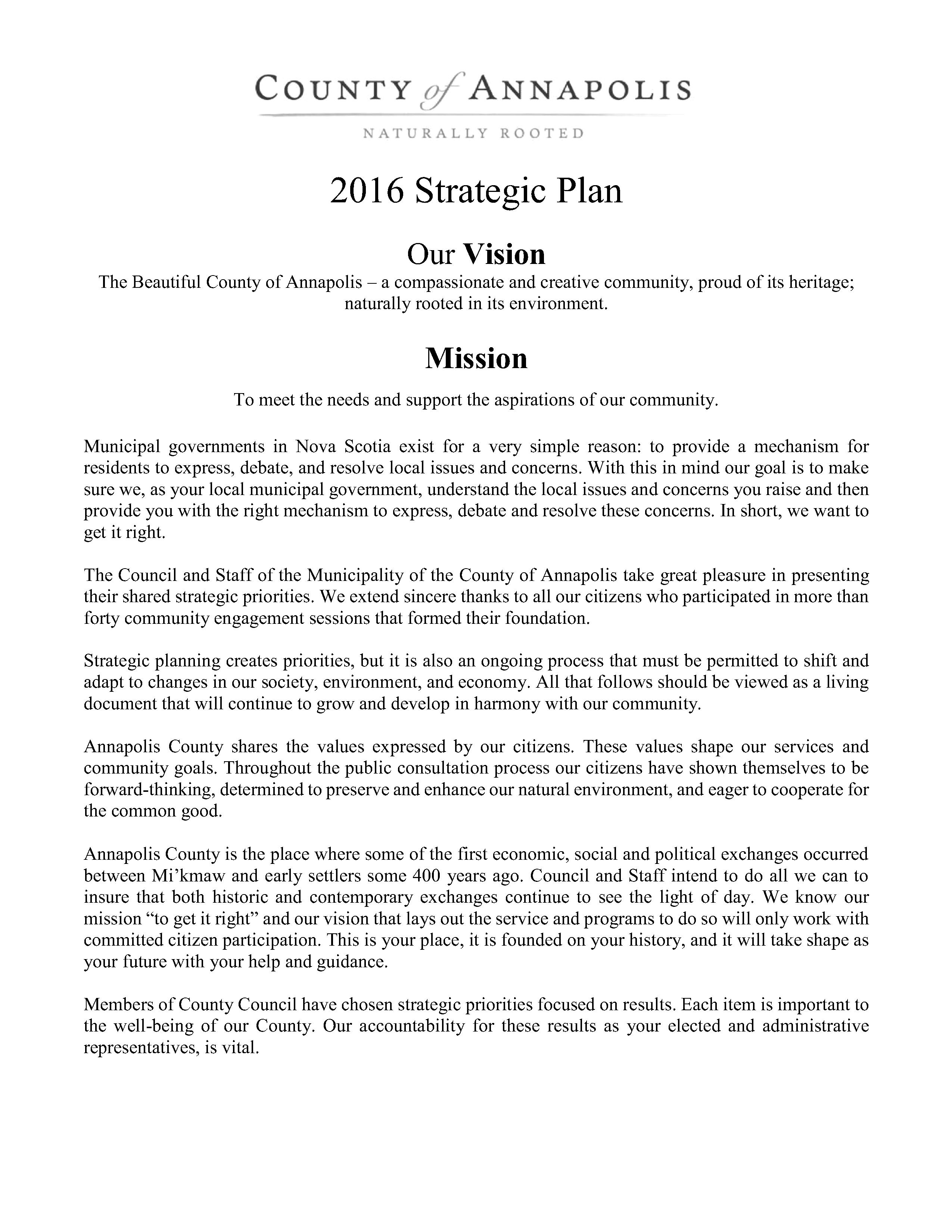 2016 Strategic Plan 1