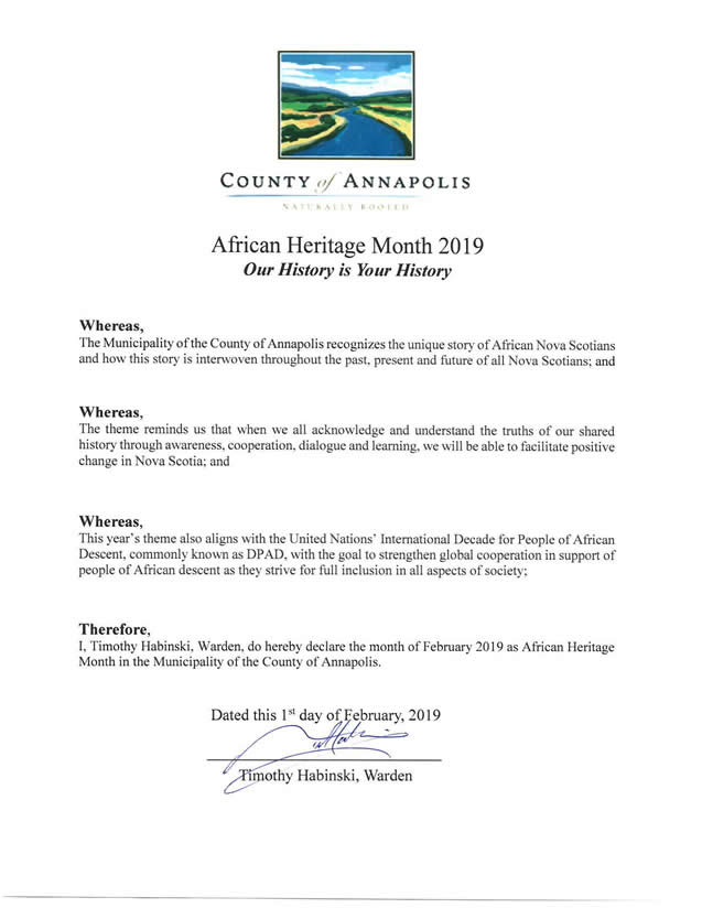 2019 African Heritage Month