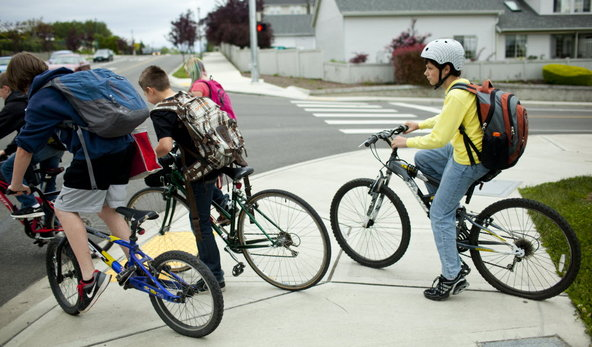 teens biking